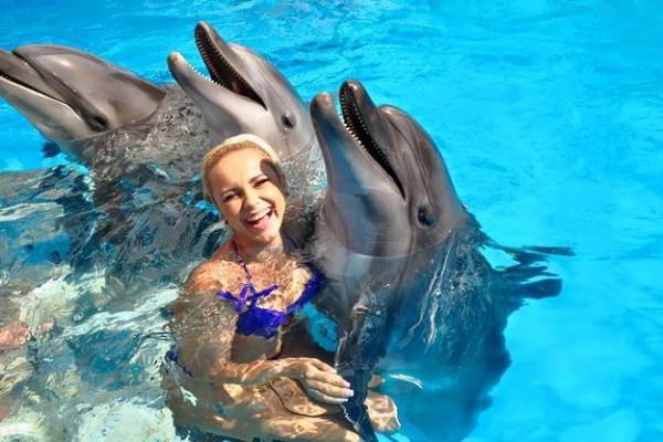 Плавание с дельфина в Симферополе в бассейнах с морской водой для мам с детьми